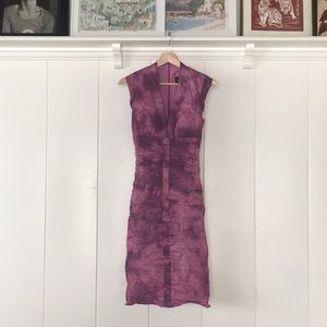 Purple Nicole Miller Collection Formal Midi Dress